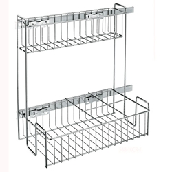 "Rev A Shelf 548-10CR-1  Two Tier Pullout Sink Base Kitchen Organizer - 9 3/4"" - Chrome"