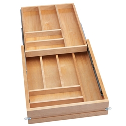 Rev A Shelf 4wtcd 419fl 1 18 Inch Tiered Double Cutlery Drawer For