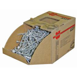 "Wurth 016914044 Assy Plus Galvanized Particle Board Screw with Nibs - #8 x 1 9/16"" - 500/box"