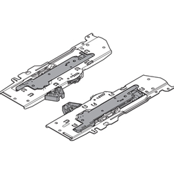 Blum T60B3330 TIP-ON BLUMOTION set (Unit + latch + adapter) for TANDEMBOX -  Type L1, NL=350-600mm, Total weight of the pull-out=0-20 kg - Light Grey