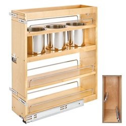 Rev-A-Shelf Base Cabinet Pullout Bottom and Side Mount with BLUMOTION with Bins