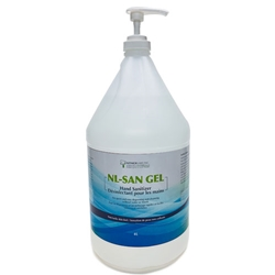 NL-SAN Medical Grade GEL Hand Sanitizer with Emollient - 4-Litre Jug with Pump Top