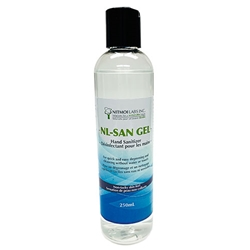 NL-SAN Alcohol-based GEL Hand Sanitizer with Emollient 250-ML in Squeeze Bottles