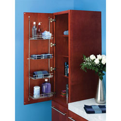 Rev A Shelf 5CLR46-52 Door Storage Linen Rack for Bathroom/Vanity - Chrome