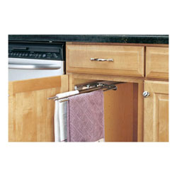 Rev A Shelf 563 47 C Undersink Pull Out Towel Bar 3 Prongs Chrome