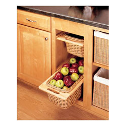 Rev A Shelf 4WB-15I Rattan Organizer Pullout Basket with Rails