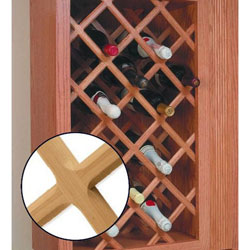 Omega National Products L3340OUF9 23-Inch x 29-Inch Deluxe Wine Rack Lattice (Oak)