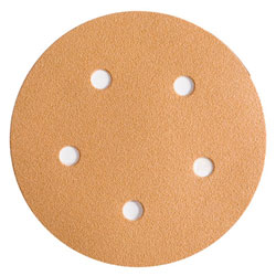"Wurth 8507372024961 Gold Sanding Discs – Hook and Loop – 240 Grit – 5"" – 5 Holes - 50 per box"