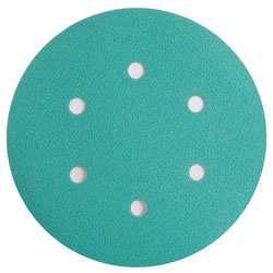 "Wurth 8506333018961 Emerald Sanding Discs – Hook and Loop – 180 Grit – 6"" – 6 Holes - 50 per box"