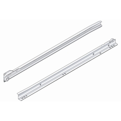 PRO Value Series PRO5020 Drawer Slide Bottom Mount Epoxy Slide - Cream/White - 20""