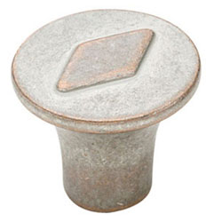 Amerock BP24006-WNC Vasari Collection Galleria Signature Round Knob - 30mm - Weathered Nickel Copper