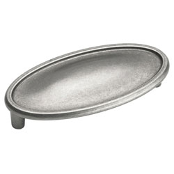 "Amerock BP26126-WN Manor Collection Cup Pull - 3"" - Weathered Nickel"
