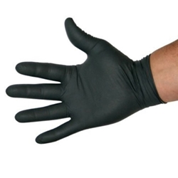 Wurth Black Nitrile Gloves Large Size 9