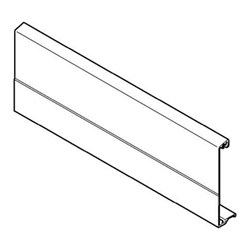 Blum Z31M1081-A Long Aluminum Front Piece for Inner Drawers - Nickel