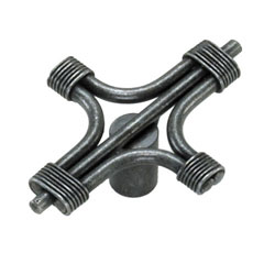 "51206 2"" STEEL CABLE KNOB - ANTIQUE PEWTER"