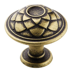 Amerock BP53027-DBS Padma Collection Round Feather Knob - 33mm - Distressed Brass
