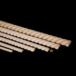 "Grand River 6-0139-P Rope Twist Trim - 3/4"" x 96"" - Poplar"