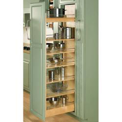 "Rev A Shelf 448-TP58-5-1 Wood Pantry With Slide 58""H X 5"""