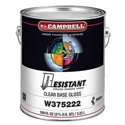 M.L. Campbell W375 222 1 Resistant Post-Catalyzed Pigmented Varnish - Clear Gloss