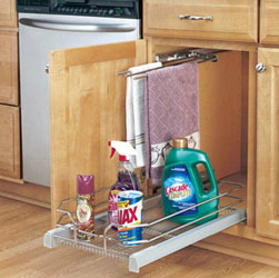 Rev A Shelf 5330-12-CR Bottom and Side mount Chrome Baskets With Door Mount