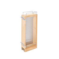 Rev A Shelf 444-WC-5SS Pullout Wall Cabinet Organizer with Stainless Steel Pegboard