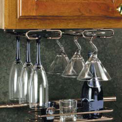 Rev-A-Shelf 300-16-63-52 Stemware Rack (1 Set) - 16-Inch - Brass