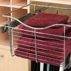"Rev A Shelf CB-182011CR Pull-out Wire Basket for Closet - Chrome - 18"" W x 20"" D x 11"" H"