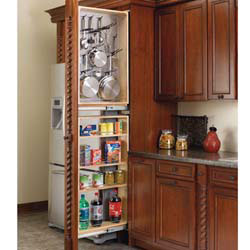 "Rev A Shelf 434-TF39R-6SS 6"" Filler Pullout Organizer with Stainless Panel (Right Handed) Tall Pantry"
