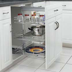 "Rev A Shelf 5225-20-WH White Wire Pullout Pantry (16 3/4"" W X 33"")"