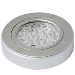 HD LED 24V REC/SURF PUCK AL WARMWHT