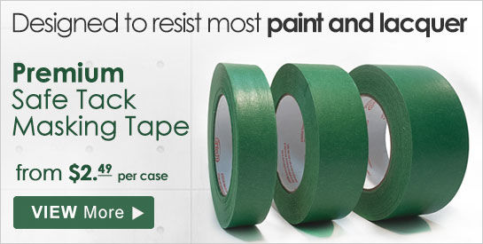 Masking tape designed to resist most paint and lacquer