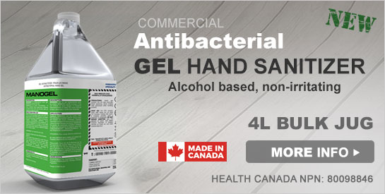 Manogel Antibacterial Gel Hand Sanitizer 4L Jug
