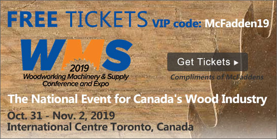 2019 WMS Woodworking Machinery & Supply Show in Toronto